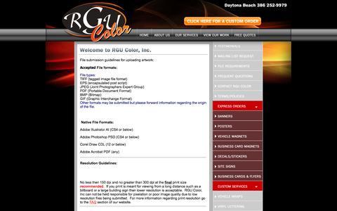 Screenshot of Maps & Directions Page rgucolor.com - RGU Color - Printing and More - Daytona, Florida - captured Feb. 22, 2016