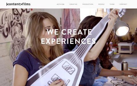 Screenshot of Team Page kontentfilms.com - PEOPLE | Kontent Films SF - captured Sept. 20, 2018