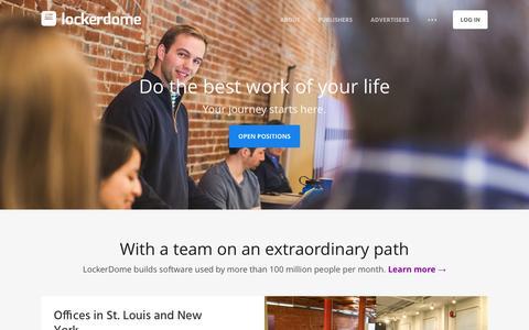 Screenshot of Jobs Page lockerdome.com - Careers at LockerDome - captured May 9, 2017
