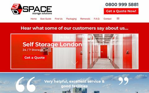 Screenshot of Testimonials Page 3dspacestorage.co.uk - Secure Self Storage Testimonials | 3D Space Storage - captured Oct. 20, 2018