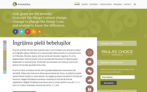 Screenshot of Home Page pasagera.ro - Pasagera - Sfaturi cosmetice - captured Sept. 19, 2014