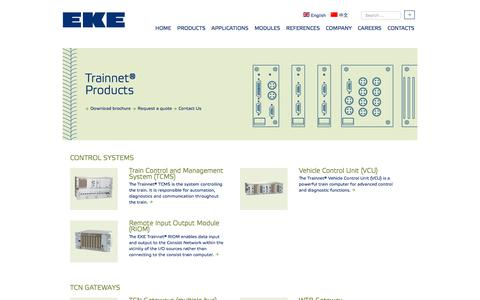 Screenshot of Products Page eke-electronics.com - EKE-Electronics - PRODUCTS - captured Sept. 25, 2018