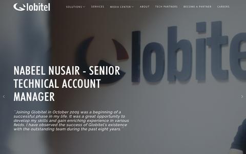 Screenshot of Jobs Page globitel.com - Careers - Globitel - captured July 4, 2016
