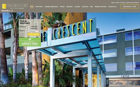 Screenshot of Home Page thecrescentapts.com - The Crescent at West Hollywood   West Hollywood, CA   Home - captured Feb. 15, 2016
