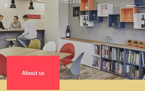 Screenshot of About Page sopexa.com - About us - SOPEXA - captured Sept. 21, 2018