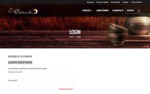 Screenshot of Login Page mayoristadete.com - Acceso cliente - captured May 23, 2016