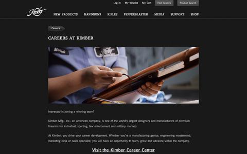 Screenshot of Jobs Page kimberamerica.com - Kimber America | Careers - captured Sept. 24, 2018
