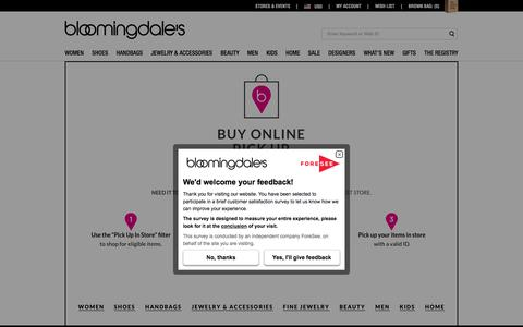 Bloomingdale's - Buy Online Pickup In Store Today