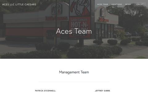 Screenshot of Team Page acespizza.com - Team | Aces, LLC Little Caesars - captured Oct. 7, 2017