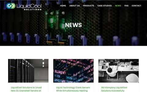 Screenshot of Press Page liquidcoolsolutions.com - News | LiquidCool Solutions - captured May 9, 2017
