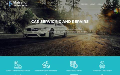Screenshot of Home Page mairangiautomotive.co.nz - Mairangi Automotive |  Car Mechanic Service Auckland, Albany, Rosedale, North Shore - captured Oct. 5, 2017
