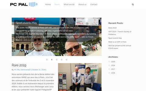 Screenshot of Press Page pcpal.eu - News – PC PAL - Excellence in Software Design - captured Nov. 21, 2019