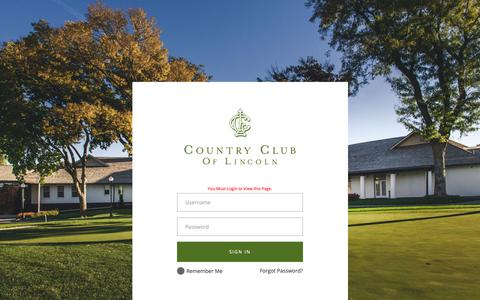 Screenshot of Hours Page ccl.cc - Member Login - Country Club of Lincoln - captured Sept. 29, 2018