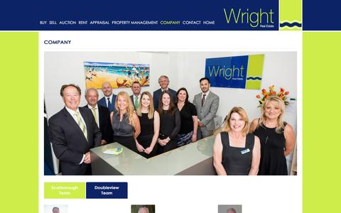 Screenshot of About Page wrightrealestate.com.au - Company : Wright Real Estate - captured June 14, 2016