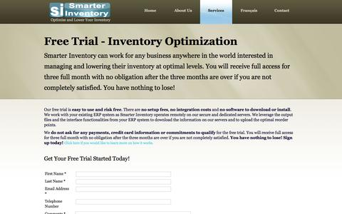 Screenshot of Trial Page smarterinventory.com - Smarter Inventory - Free Trial - captured Dec. 22, 2015