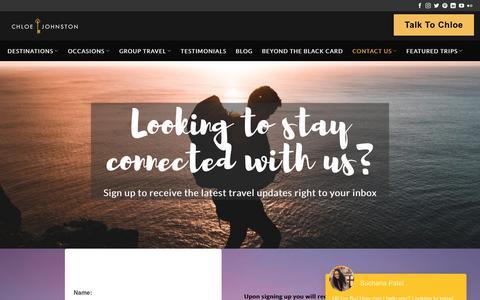 Screenshot of Signup Page chloejohnston.com - Sign Up! | - captured Sept. 25, 2018
