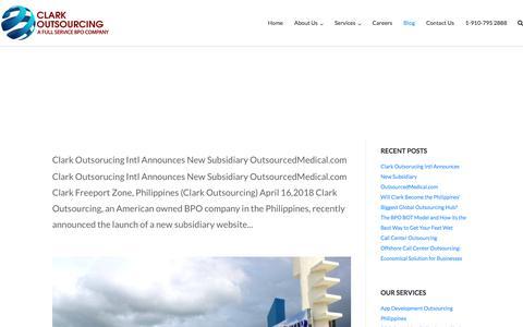 Screenshot of Blog clarkoutsourcing.com - Blog – Clark Outsourcing - captured May 8, 2018