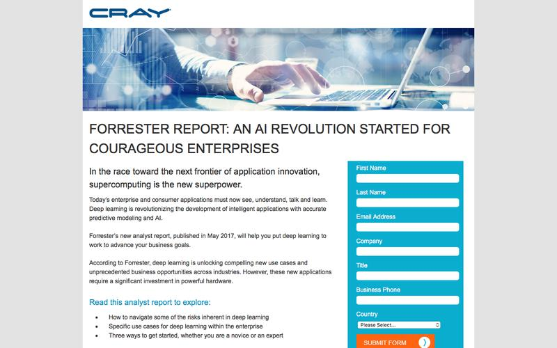 Cray Forrester Report: Deep Learning: An AI Revolution Started For Courageous Enterprises