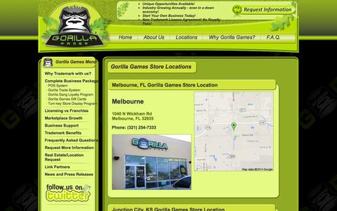 Screenshot of Locations Page gorillagames.com - Gorilla Games Store Locations - Visit a Gorilla Games Store - captured Oct. 3, 2014