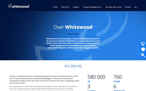 Screenshot of About Page whitewood.eu - Whitewood - Over Ons - captured Dec. 12, 2016