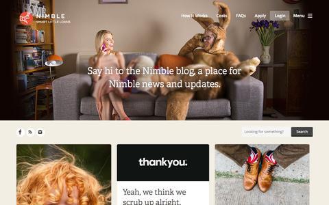 Screenshot of Blog nimble.com.au - Nimble Blog - Clever life hacks, financial musings and other useful stuff - captured Oct. 2, 2015