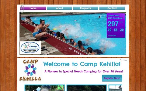 Screenshot of Home Page campkehilla.org - campkehilla - captured Sept. 4, 2015
