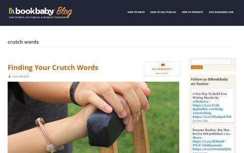 Screenshot of Blog bookbaby.com - crutch words | BookBaby Blog - captured Feb. 27, 2017