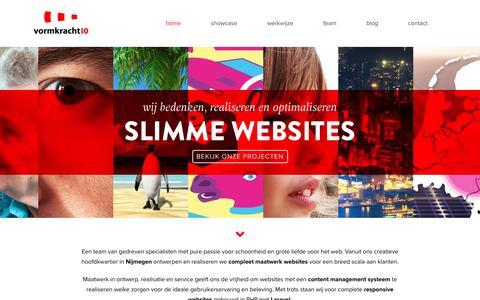 Screenshot of Home Page vormkracht10.nl - Webdesign Nijmegen - Vormkracht10 - captured Jan. 11, 2016