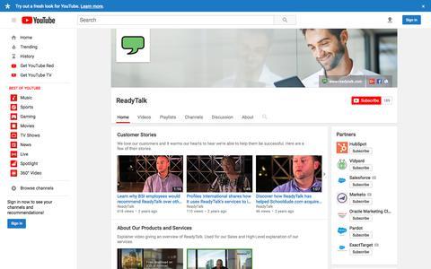 ReadyTalk  - YouTube