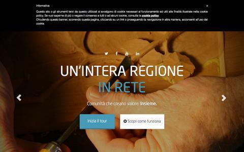 Screenshot of Home Page tibex.net - Tibex.net - Circuito di Credito Commerciale del Lazio - captured Sept. 19, 2015