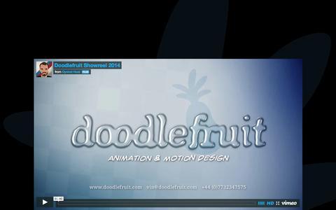 Screenshot of Home Page doodlefruit.com - Doodlefruit Animation and Motion Graphics - captured Sept. 30, 2014