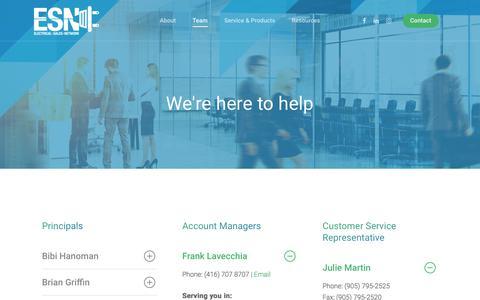 Screenshot of Team Page esncorp.com - Team - Electrical Sales Network - captured Nov. 21, 2017