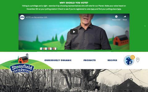 Screenshot of Press Page stonyfield.com - Press - Stonyfield - captured Nov. 1, 2018