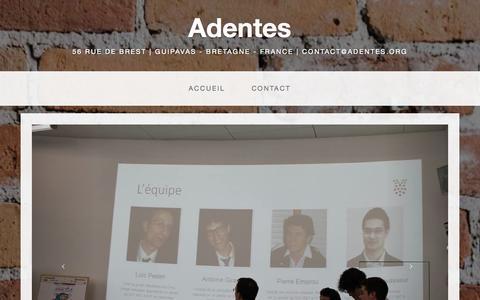 Screenshot of Home Page adentes.org - Adentes - captured Sept. 30, 2014