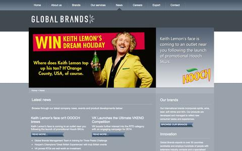 Screenshot of Press Page globalbrands.co.uk - News | GlobalBrands.co.uk - captured Oct. 2, 2014