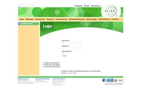 Screenshot of Login Page itclicks.com - Login - captured Feb. 11, 2016