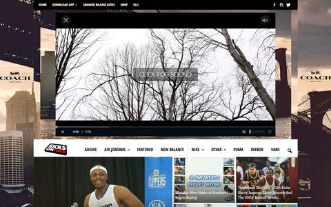 Screenshot of Home Page kicksonfire.com - KicksOnFire.com - Sneaker News & Release Dates - captured Oct. 22, 2015
