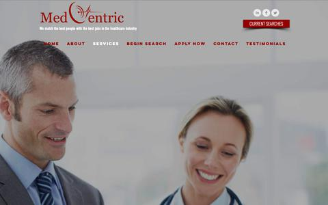 Screenshot of Services Page medcentric.net - Services I MedCentric I USA - captured Oct. 17, 2018