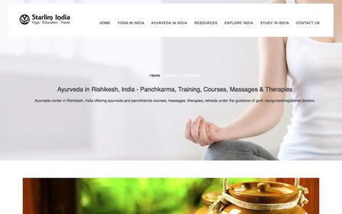 Ayurveda in Rishikesh, India - Panchkarma, Training, Courses, Massages & Therapies