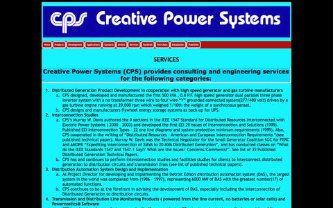 Screenshot of Services Page creativepowersystems.net - SERVICES/CPS - captured July 23, 2018