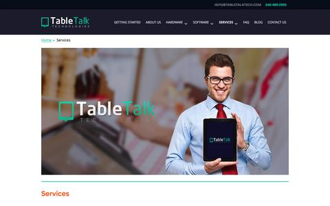 Screenshot of Services Page tabletalktech.com - Restaurant POS Services in Maryland   Upgrade Software - captured Feb. 17, 2016