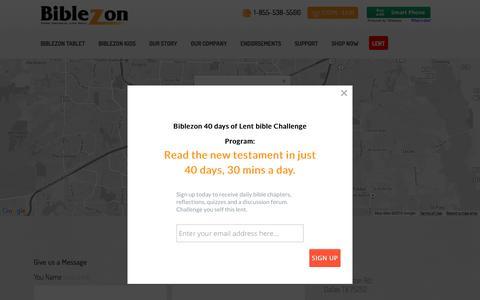 Screenshot of Contact Page biblezon.com - contact us - Biblezon - captured Feb. 7, 2016