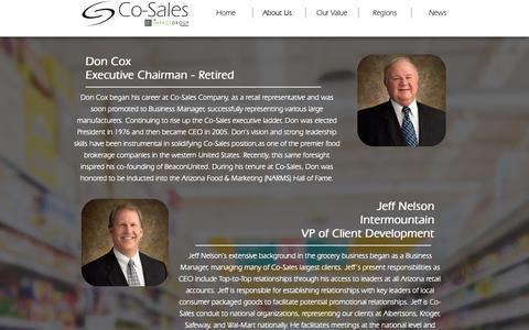 Screenshot of Team Page co-sales.com - Leadership | Co-Sales - captured Sept. 28, 2018