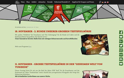 Screenshot of Press Page turisede.com - News - Freizeitpark - Kulturinsel Einsiedel - captured Nov. 19, 2018