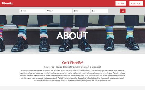 Screenshot of About Page plannify.com - Plannify - captured July 4, 2016