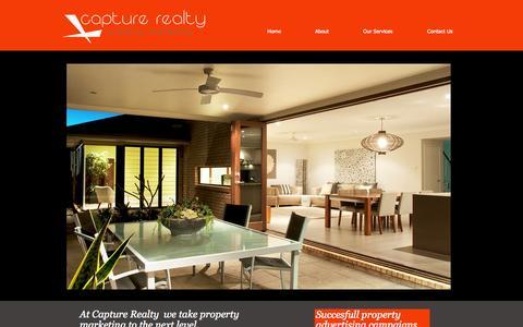 Screenshot of Home Page capturerealty.com.au - Capture Realty Property Marketing - captured Sept. 30, 2014