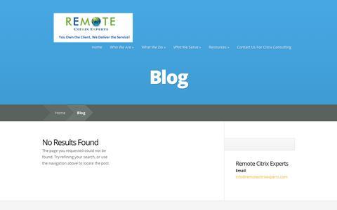 Screenshot of Blog remotecitrixexperts.com - Blog Archives - Remote Citrix Consulting - captured Feb. 25, 2016