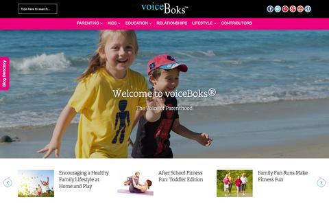 Screenshot of Home Page voiceboks.com - voiceBoks� - The Voice of Parenthood | Community for Parents - captured Jan. 13, 2016