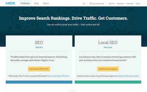 Screenshot of Trial Page moz.com - Software for Managing Inbound Marketing and Local SEO - Moz - captured Oct. 27, 2016