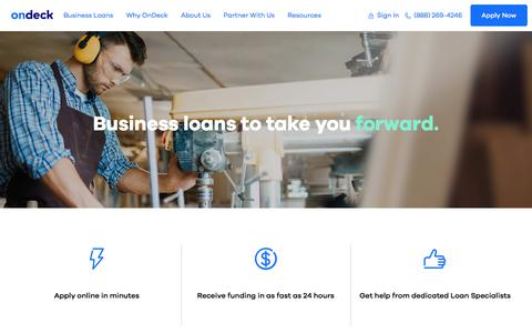 Small Business Loans and Lines of Credit | OnDeck